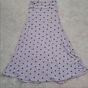 LulaRoe Polk dot maxi skirt